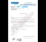 Сертификат представителя компании COMEVAL